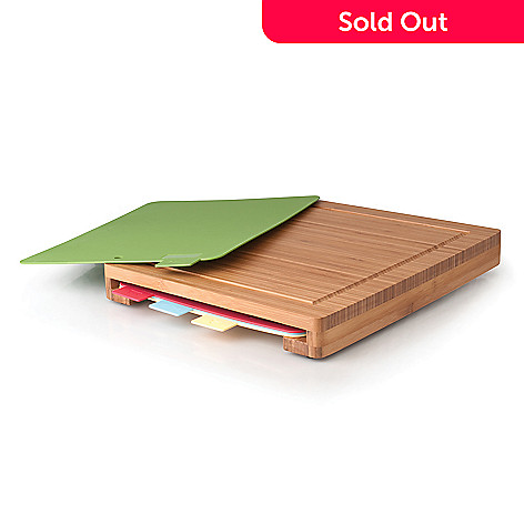 439-792 - BergHOFF® Five-Piece Bamboo Cutting Board w/ Colored Accessory Boards