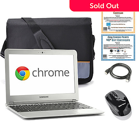 439-805 - Samsung 11.6'' Dual-Core 1.7GHz 2GB RAM/16GB SSD Google Chromebook w/ Accessories