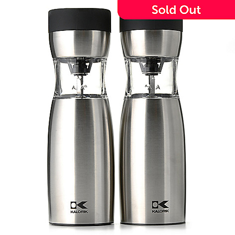 439-808 - Kalorik Two-Piece Electric Salt & Pepper Gravity Mill Set