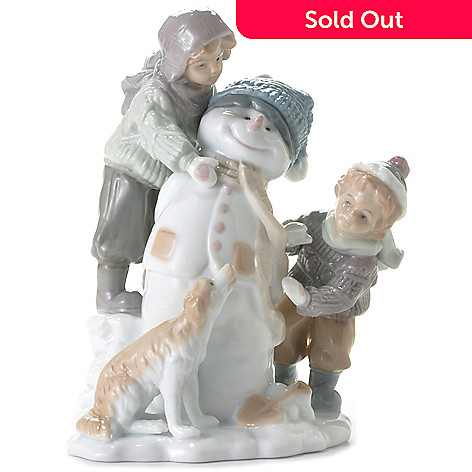 439-873 - Sorelle® ''Frosty the Snowman'' 9'' Porcelain Hand-Crafted Figurine