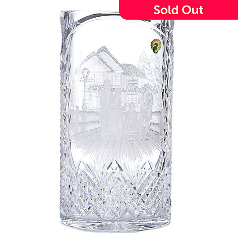 439-949 - House of Waterford® Christmas Carol Singers 12'' Crystal Oval Vase