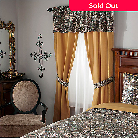 440-038 - Cozelle® Microfiber Paisley & Solid Window Treatment