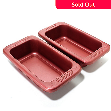 440-048 - Cook's Companion® Set of Two 9'' x 5'' Color Nonstick Loaf Pans