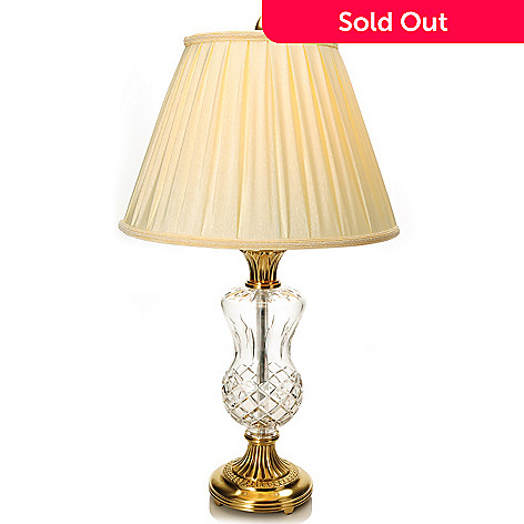 440-181 - Waterford Crystal 31'' Thistle Table Lamp w/ Shade