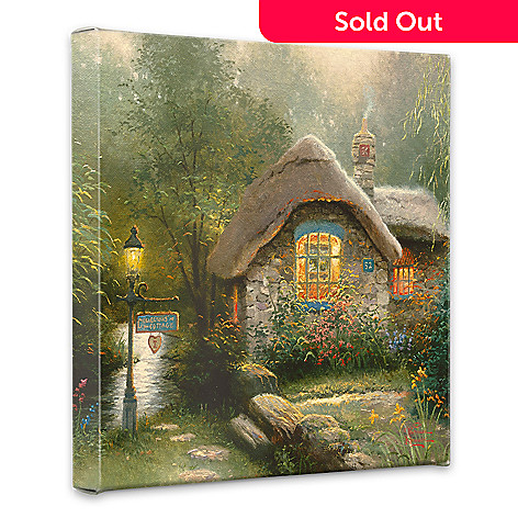 440-265 - Thomas Kinkade ''Collectors Cottage'' 14'' x 14'' Gallery Wrap