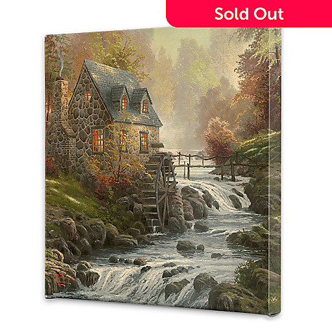 440-267 - Thomas Kinkade ''Cobblestone Mill'' 20'' x 20'' Gallery Wrap