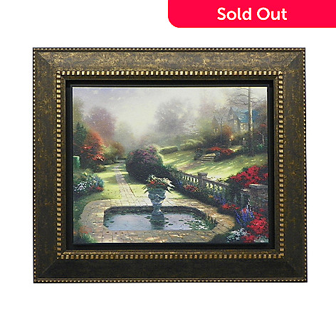 440-268 - Thomas Kinkade ''Gardens Beyond Autumn Gate'' Framed Textured Print