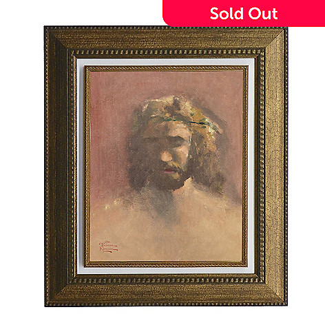 440-269 - Thomas Kinkade ''Prince of Peace'' Framed Textured Print