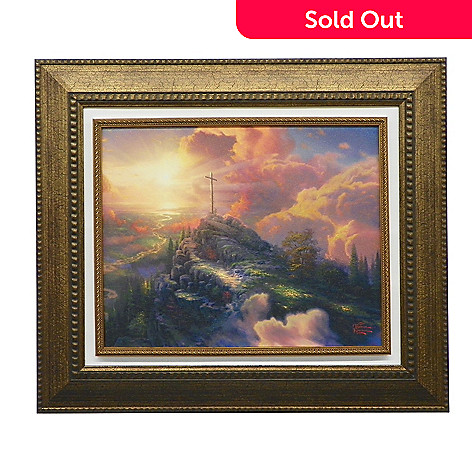 440-271 - Thomas Kinkade ''The Cross'' Framed Textured Print
