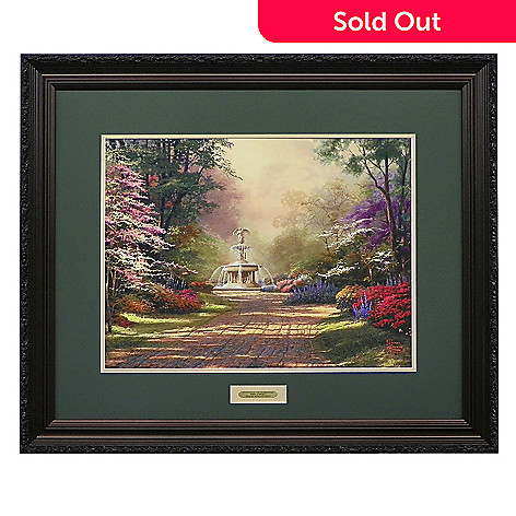 440-277 - Thomas Kinkade ''Fountains of Blessings'' Limited Edition Framed Print