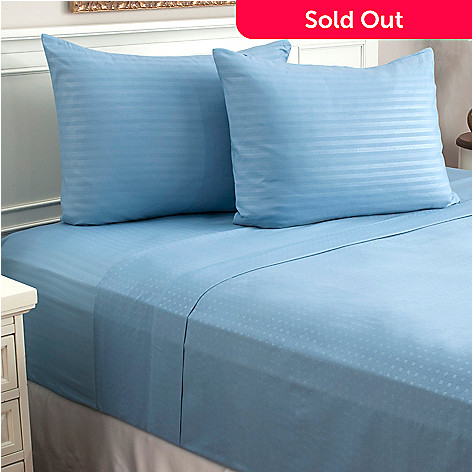440-279 - Cozelle® Set of Two Embossed Striped & Dot Four-Piece Sheet Sets