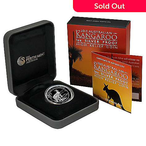 440-301 - 2013 Silver Australian Kangaroo Proof High Relief Perth Mint Coin