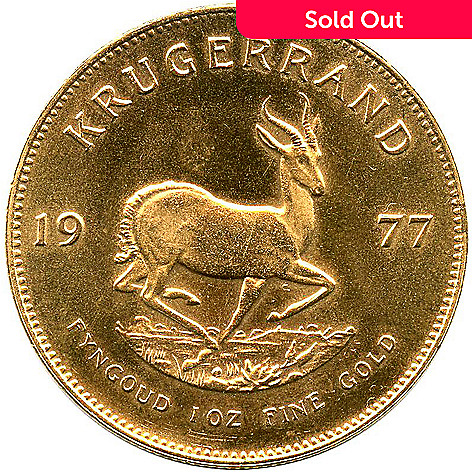 440-309 - 1967-2013 1 oz Gold South African Krugerrand Bullion Coin