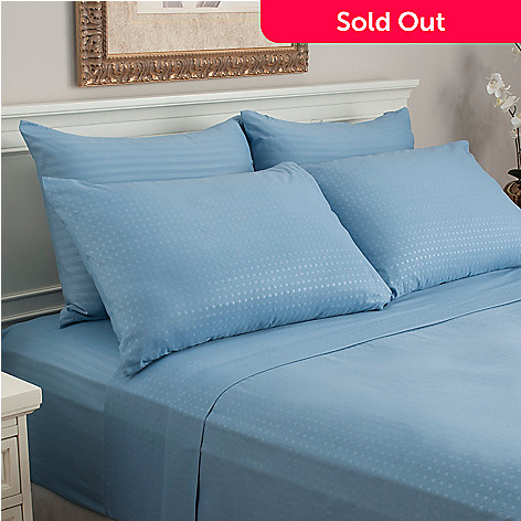 440-323 - Cozelle® Set of Two Microfiber Embossed Striped & Dot Pillowcase Pairs