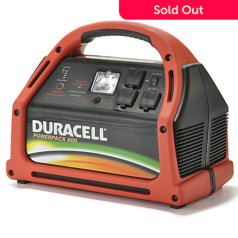 440-330 - Duracell® 600 Watt Powerpack w/ Jumper Cables, AC/DC & USB Power