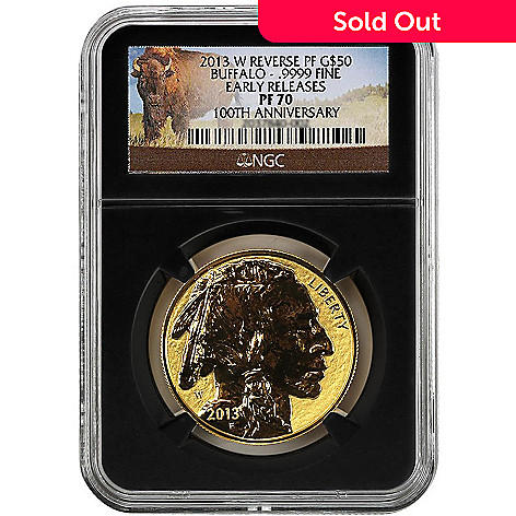 440-338 - 2013 $50 Gold Buffalo PF Reverse Proof NGC (W) Coin
