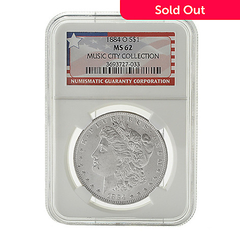 440-355 - 1884 Silver Music City Hoard MS62 NGC (O) Morgan Coin