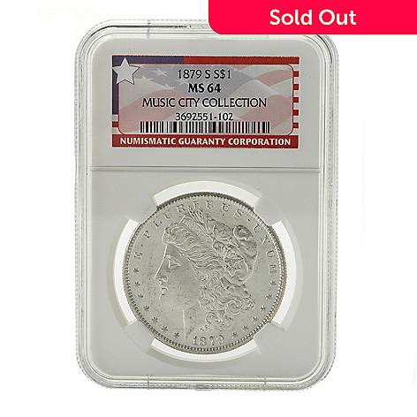 440-356 - 1879 Silver Music City Hoard MS64 NGC (S) Morgan Coin