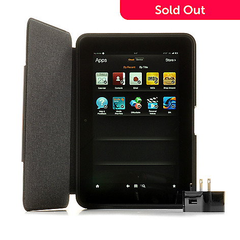 440-361 - Amazon Kindle Fire HD 8.9'' 4G LTE Tablet w/ Leather Case & Adapter