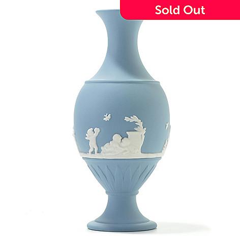 440-405 - Wedgwood Blue Bud 6.25'' Jasperware Vase