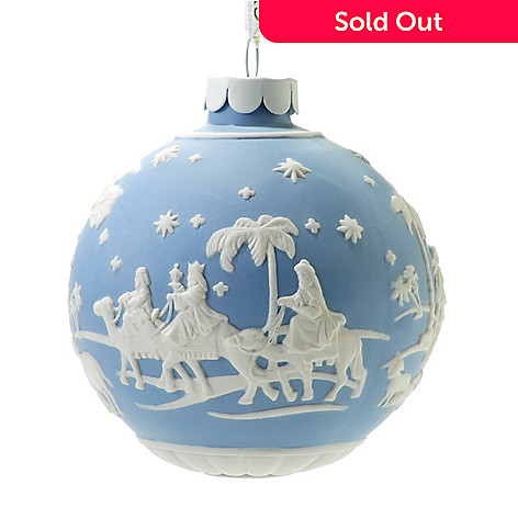 440-415 - Wedgwood® Nativity Blue 3'' Jasperware Ornament