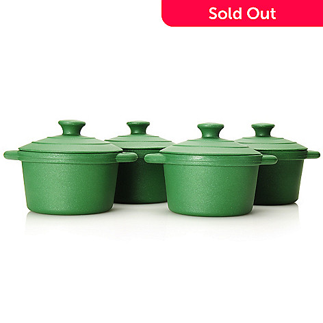 440-446 - Cook's Tradition® Set of Four 8 oz Silicone Cocottes w/ Lids
