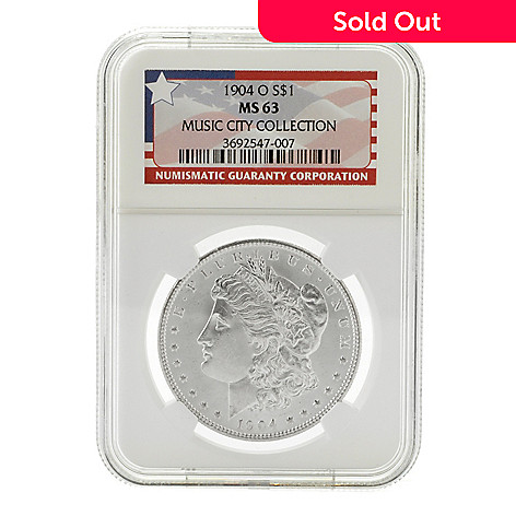 440-451 - 1904 Silver Music City Hoard MS NGC (O) Morgan Coin