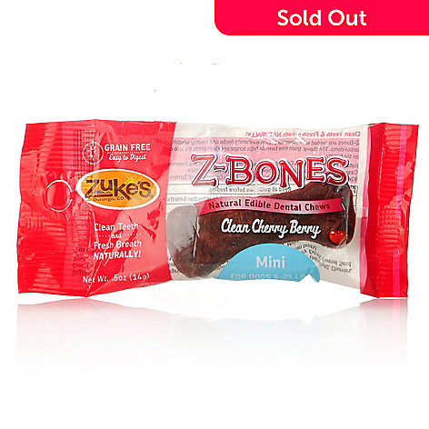 440-468 - Zuke's® Z-Bones™ Cherry Berry Edible Dental Chew