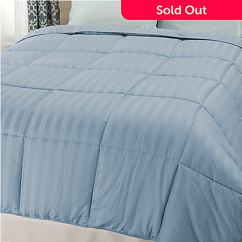 440-485 - Cozelle® 600TC Cotton / Poly Blend Easy Care Damask Down Alternative Striped Comforter