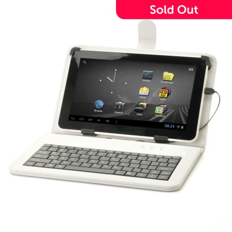 91 - D2 Pad™ Google Certified Android™ 4.1 4GB Wi-Fi Tablet w/ Keyboard Case