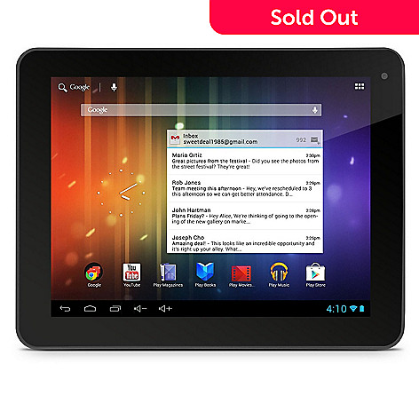 440-601 - Ematic 8'' HD Android™ 4.1 Google Certified 8GB Dual-Core Bluetooth™ Tablet