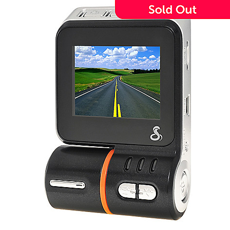 440-664 - Cobra HD Dash Cam Continuous Loop Day/Night 1080p Video Camera w/ 8GB MicroSD Card