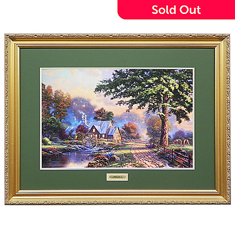 440-726 - Thomas Kinkade ''Simpler Times II'' Limited Edition Framed Print
