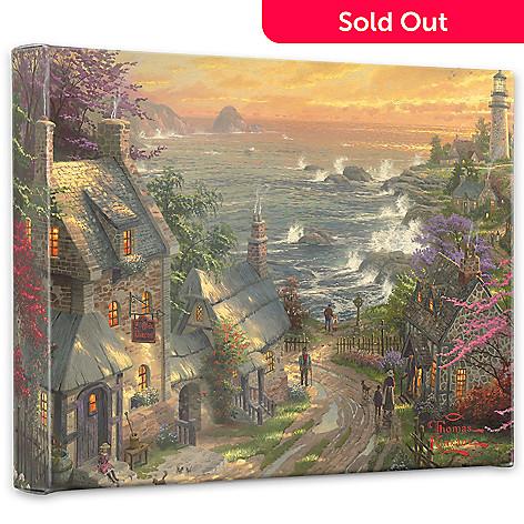 440-728 - Thomas Kinkade ''Village Lighthouse'' 8'' x 10'' Gallery Wrap