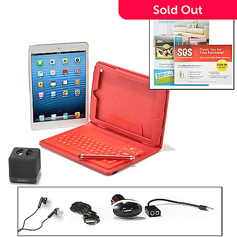 440-743 - Apple® iPad® Mini 7.9'' LED 16GB iOS Wi-Fi Tablet w/ Bluetooth® & Accessories