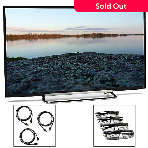 440-859 - Sony Bravia® 50'' MotionFlow XR240 1080p Smart 3D LED HDTV w/ Three HDMI Cables