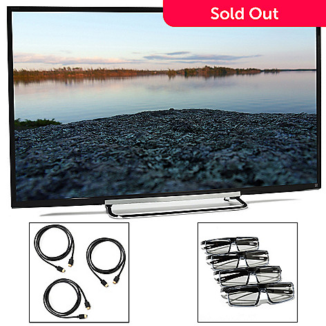 440-860 - Sony Bravia 60'' MotionFlow XR240 1080p Smart 3D LED HDTV w/ Three HDMI Cables