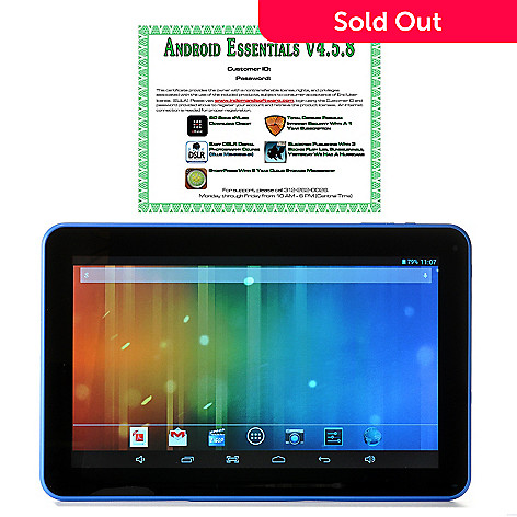 440-876 - TRAVELTEK Android™ 4.2 10.1'' LCD Dual-Core 4GB Wi-Fi Tablet w/ Google Play & Software
