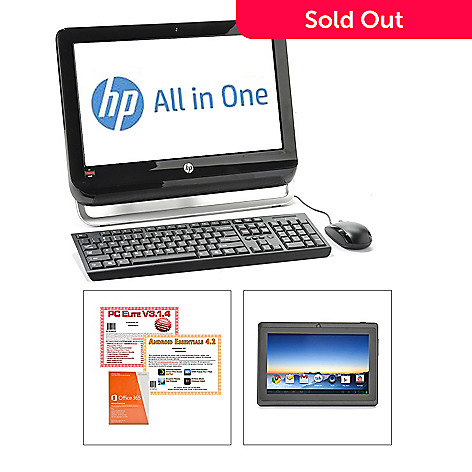 440-895 - HP 18.5'' LCD 4GB RAM/500GB HD All-in-One Desktop & Wi-Fi Tablet w/ Software & Apps