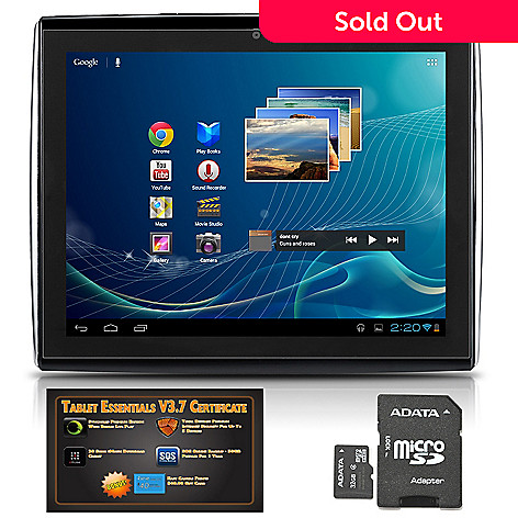 441-017 - LePan II 9.7'' LCD Google Certified Android™ 4.0 Wi-Fi Tablet w/ Software & 32GB MicroSD