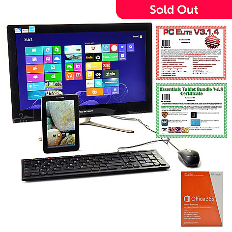 441-041 - Lenovo 21.5'' LED 4GB RAM/1TB HDD Desktop Computer & IdeaTab 16GB Wi-Fi Tablet w/ Software & Apps