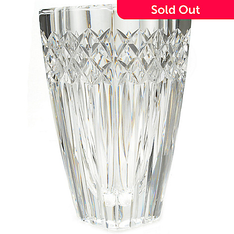 441-044 - House of Waterford Wallis 7'' Crystal Vase - Signed by Tom Brennan