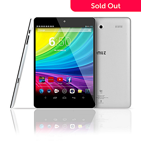 441-061 - iMuz 7.85'' IPS LCD Android® 4.2 1.0GHz Quad Core 1GB RAM 16GB Storage Dual Camera Wi-Fi Tablet