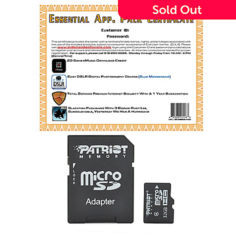441-237 - MicroSD Card w/ Adapter & Essential App Pack Software Kit