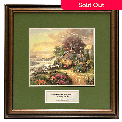441-294 - Thomas Kinkade Inspirational ''New Day Dawning'' Framed Print