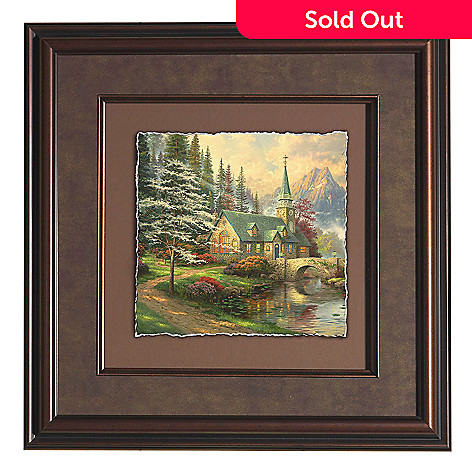 441-303 - Thomas Kinkade ''Dogwood Chapel'' Framed Floating Print