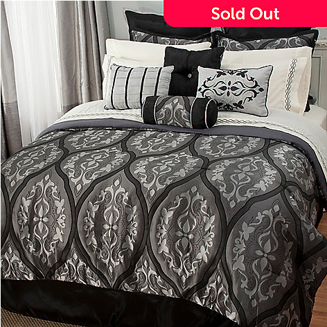 441-451 - North Shore Living™ Microfiber Medallion Jacquard 16-Piece Bedding Ensemble