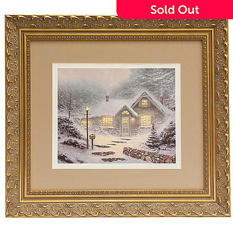 441-502 - Thomas Kinkade ''Home for the Evening'' Framed Print - Signed by Thomas Kinkade