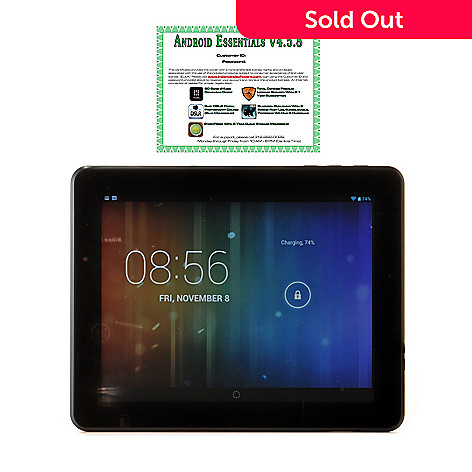 441-710 - TRAVELTEK Android™ 4.2 9.7'' LCD Dual-Core 4GB Wi-Fi Tablet w/ Google Play & Software