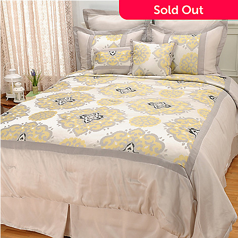441-866 - North Shore Linens™ Medallion Jacquard Eight-Piece Bedding Ensemble